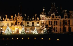 Waddesdon at night