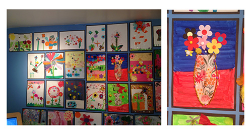 Displays from the childrens'árt competition