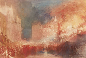 The Burning of the Houses of Parliament c1834-35 - J M W Turner