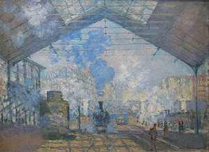La Gare Saint Lazare - Claude Monet