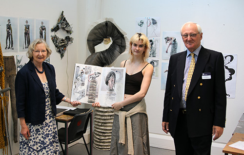 Hannah received her award from Chairman of The Arts Society RLS, Shaun Pitt, with Edwina McConville, Secretary for Arts Volunteering.
