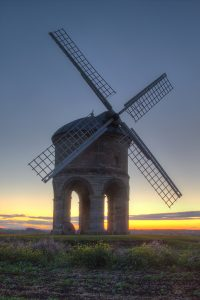 Image of Chesterton Windmill at twilight